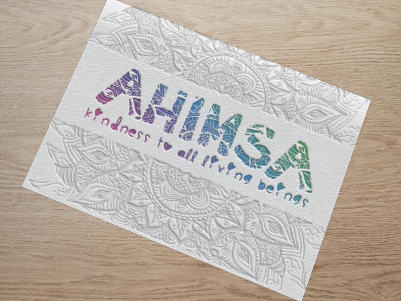 Letterpressed-Ahimsa